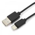 Кабель USB 2.0 Am->Type-C 1.0m экран, Гарнизон [GCC-USB2-AMCM-1M]