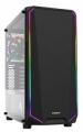 Корпус ZALMAN K1 без БП, большое боковое окно, RGB,черный, ATX