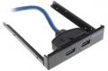 """Панель 5bites лицевая FP184A в 3.5"""" отсек корпуса ПК, 2*USB3.0"""