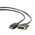 Кабель DisplayPort-DVI Cablexpert 3.0m 20M/19M, черный, экран [CC-DPM-DVIM-3M]