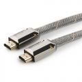 Кабель HDMI- HDMI 1.8m Cablexpert [CC-P-HDMI04-1.8M] v2.0, серия Platinum, плоский, позол.разъемы