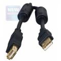 Кабель USB 2.0 PRO Am->Af 1.8m (удлинитель) экран, ферритовые кольца, черн. Gembird [CCF-USB2-AMAF-6]