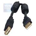 Кабель USB 2.0 PRO Am->Af 3m (удлинитель) экран, зол. контакты, черн. Gembird [CCP-USB2-AMAF-10]