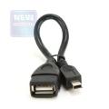 Кабель USB 2.0 Af->miniBm OTG Gembird, 0.15m [A-OTG-AFBM-002]