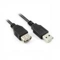 Кабель USB 2.0 Am->Af 3.0m (удлинитель) Greenconnect [GC-UEC3M-F-G-3m]