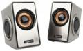 Колонки 2.0 Gembird SPK-400, серебристый, пассивные излучатели, 6 Вт, рег громкости