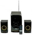 Колонки Dialog Progressive AP-208 black 2.1, 30W+2*15W RMS, Bluetooth, USB+SD reader