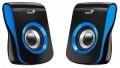 Колонки Genius SP-Q180, 2.0, 2 x 3W RMS, USB-power, blue