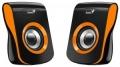Колонки Genius SP-Q180, 2.0, 2 x 3W RMS, USB-power, orange
