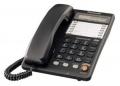 Телефон Panasonic KX-TS2365RUB (30 ст.,диспл., спикер., автод., лампа выз., Data, черный)