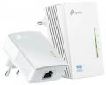 Адаптер Powerline TP-Link TL-WPA4220KIT до 300Мбит/с, + WiFi, комплект 2шт