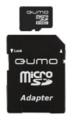 Карта памяти microSD  8Gb Qumo Class 10 + SD