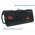 Клавиатура A4 X7-G700 black Fast Gaming waterproof PS/2