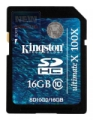 Карта памяти Secure Digital 16Gb Kingston Class10G