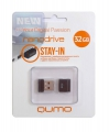 Флеш диск 32Gb Qumo Nano Black