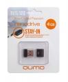 Флеш диск 4Gb Qumo Nano Black