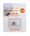 Флеш диск 4Gb Qumo Nano White