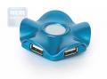 """Разветвитель  USB 2.0 Konoos UK-03 """"Волна"""", 4 порта"""