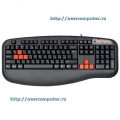 Клавиатура A4 X7-G600 silver/black Fast Gaming waterproof PS/2