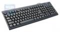 Клавиатура Gembird KB-8300-BL-R, PS/2, черная
