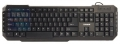 Клавиатура Zalman ZM-K200M USB black,мультимедийная,10 доп клавиш, 8 заменяемых клавиш синего цвета, лазерное нанесение букв