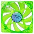 Вентилятор для корпуса DeepCool Xfan 120U G/B 120x120x25мм (пит. от мат.платы и БП, зеленый, синяя подсветка ,1300об/мин)
