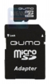 Карта памяти microSD  4Gb Qumo Class 10 + SD