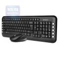 Комплект клавиатура+мышь A4 7200N black USB 2.4G наноприемник
