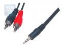 Кабель аудио Cablexpert CCA-458 5.0m джек3.5/2xRCA