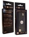 Кабель-рулетка USB 2.0 Konoos AM/BM, 75 cм, позол.разъемы, черный, коробка