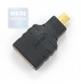 Переходник HDMI-microHDMI Gembird 19F/19M, золотые разъемы [A-HDMI-FD]