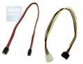 Комплект кабель SATA 7P-7P 48 см. + кабель питание 4pin/15pin (CC-SATA)