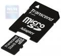 Карта памяти microSDHC 32Gb Transcend Class 10 + SD Adapter
