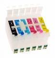 Перезаправляемые картриджи  для Epson Photo R200/R300/RX500/RX600/R220/R320/RX620 INKO