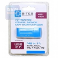 Карт-ридер внешний 5bites RE2-102BL USB2.0 / ALL-IN-ONE / USB PLUG / BLUE