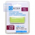 Карт-ридер внешний 5bites RE2-102GR USB2.0 / ALL-IN-ONE / USB PLUG / GREEN