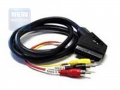 Кабель аудио/видео Cablexpert CCV-519 SCART/3xRCA, 1.8м