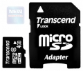Карта памяти microSDHC  4Gb Transcend Class 10 +SD