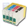 Картриджи перезаправляемые INKO Epson S22/SX125/BX305F/SX420W/SX425W (T1281-T1284)