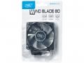 Вентилятор для корпуса DeepCool Wind Blade 80x80x25мм (пит. от мат.платы и БП, полупрозрачный, синяя подсветка)