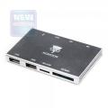 Карт-ридер внешний Konoos UK-38 USB 2.0, 4 разъема для карт памяти (SD/SDHC/MMC/Memory Stick (MS)/microSD/TF/M2)