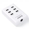 Зарядное устройство от розетки 220v в USB ORICO DUB-6P-WH