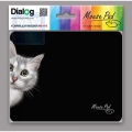 Коврик для мыши Dialog PM-H15 cat - черный с рисунком кошки