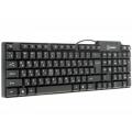 Клавиатура Oxion OKB006BK black USB проводная, черная, 104кн. (OKB006BK)