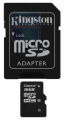 Карта памяти microSDHC 16Gb Kingston Class 10 +SD (SDC10/16GB)