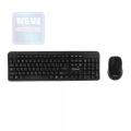 Комплект клавиатура+мышь беспроводная Gembird KBS-7002 black USB мини-приемник 1600dpi