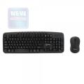 Комплект клавиатура+мышь беспроводная Gembird KBS-7003 black USB мини-приемник,soft touch, 1200dpi, 11 доп. клавиш