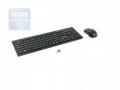 Комплект клавиатура + мышь Oklick 250M black USB 2.4ГГц беспроводной slim