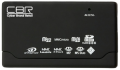 Карт-ридер внешний CBR , All-in-one, USB 2.0, ноут., софттач (CR-455)