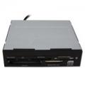 """Карт-ридер внутренний Ginzzu USB 2.0 3.5"""" Black, OEM (GR-126B)"""